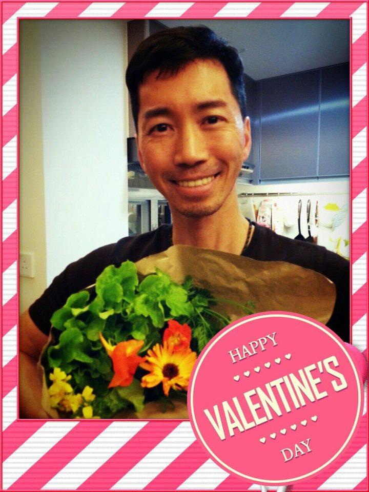 第三年的情人,我送Guy的有機菜花束。